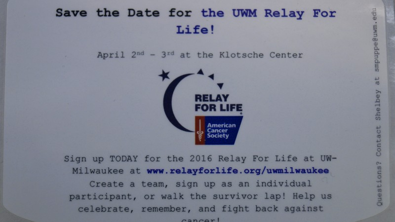 Colordyne Technologies Sponsors the American Cancer Society's Relay for Life to be held at UWM